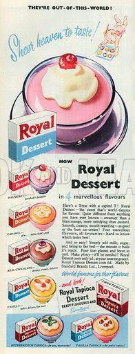 Royal Dessert Advertisement, 1950.