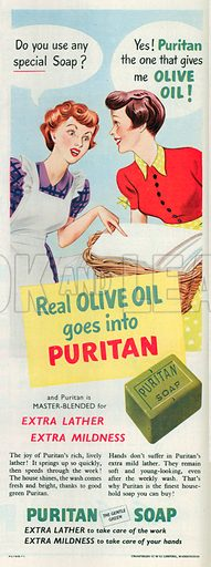 Puritan Soap Advertisement, 1950.