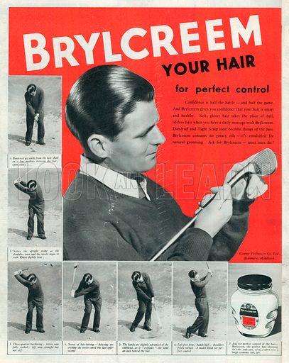 Brylcreem Advertisement, 1950.