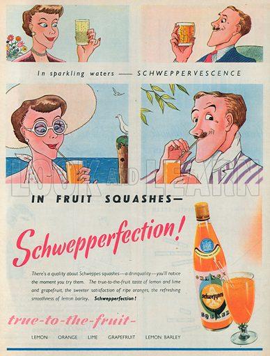 Schweppes Squash Advertisement, 1950.