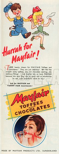 Mayfair Advertisement, 1950.