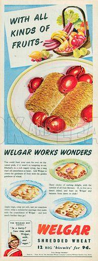 Welgar Shredded Wheat Advetisement, 1950.