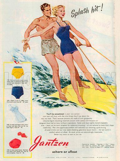 Jantzen Ashore or Afloat Advertisement, 1950.