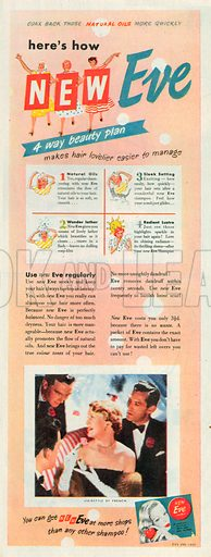 Eve Shampoo Advertisement, 1950.
