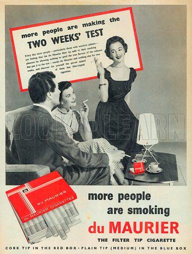 Du Maurier Advertisement, 1953.