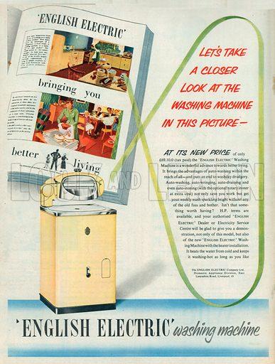 English Electric Washing Machine Advertisement, 1953.