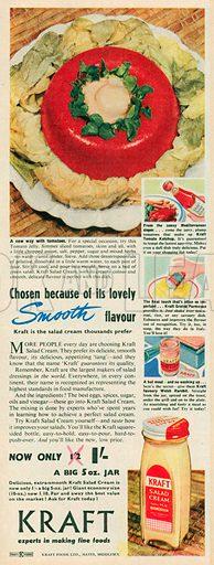 Kraft Salad Cream Advertisement, 1953.