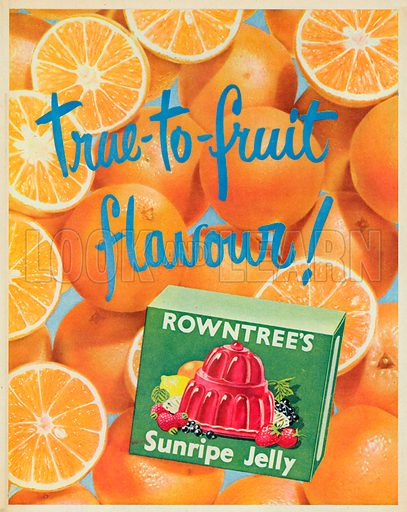 Rowntree's Sunripe Jelly Advertisement, 1953.
