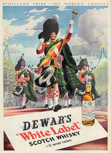 Dewar's White Label Scotch Whisky Advertisement, 1953.