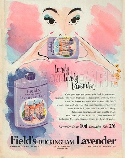 Field's Buckingham Lavender Advertisement, 1953.