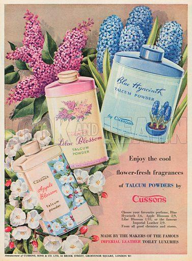 Cussons Talcum Powder Advertisement, 1953.