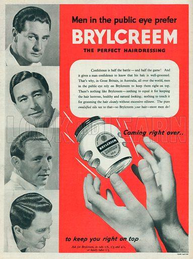 Brylcreem Advertisement, 1953.