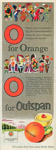 Outspan Oranges Advertisement, 1953.