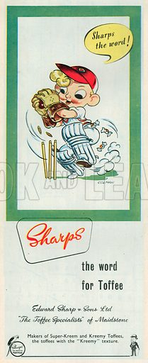 Sharps Toffee Advertisement, 1953.