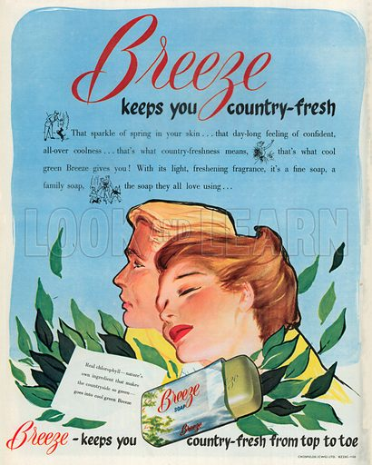 Breeze Soap Advertisement, 1953.