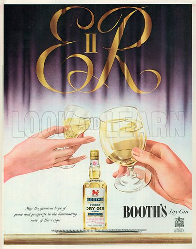 Booth's Dry Gin Advertisement, 1953.