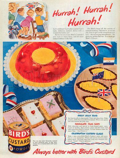 Bird's Custard Powder Advertisement, 1953.