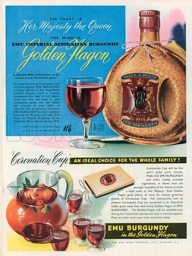 Golden Flagon Advertisement, 1953.
