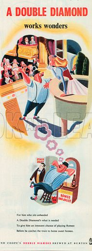 Double Diamond Advertisement, 1950.