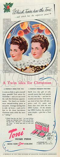Toni Advertisement, 1950.