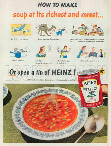 Heinz Perfect Soups Advertisement, 1950.