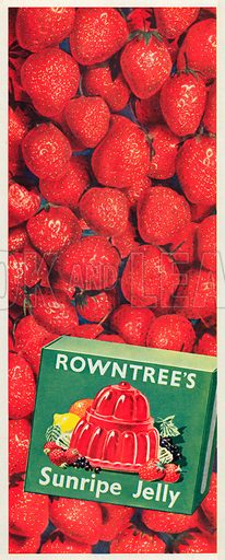 Rowntree's Sunripe Jelly Advertisement, 1952.