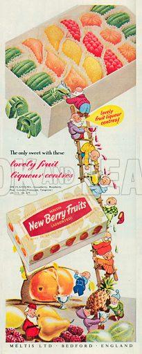Meltis New Berry Fruits Advertisment, 1952.