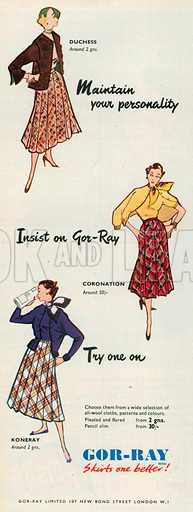Gor-Ray Advertisement, 1952.