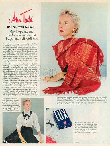 Lux Advertisement, 1952.