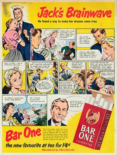 Bar One Advertisement, 1952.