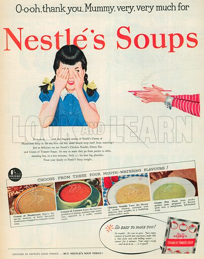 Nestle's Soups Advertisement, 1952.