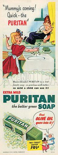 Puritan Soap Advertisement, 1952.