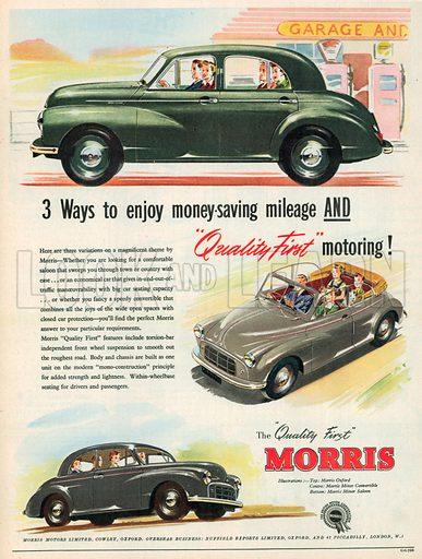 Morris Advertisement, 1952.
