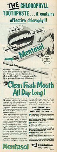Mentasol Advertisement, 1952.