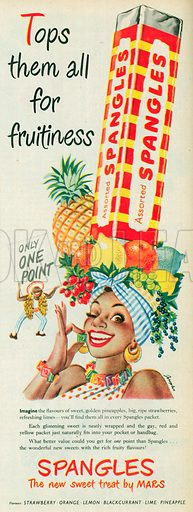 Assorted Spangles Advertisement, 1952.