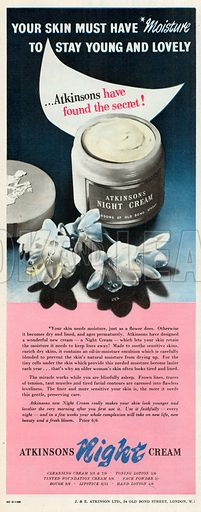 Atkinsons Night Cream Advetisement, 1952.