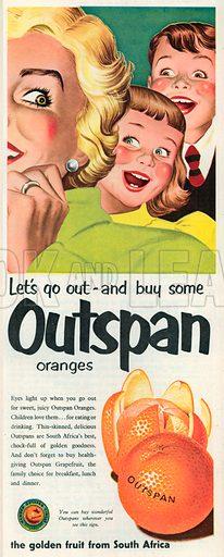Outspan Advertisement, 1952.