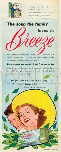 Breeze Soap Advertisement, 1952.