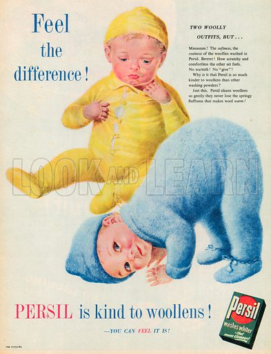 Persil Washes Whiter Advertisement, 1953.