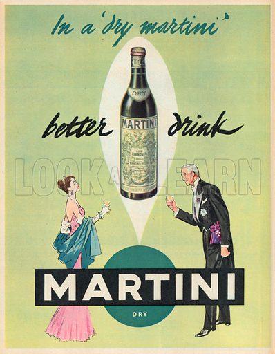Martini Advertisement, 1953.
