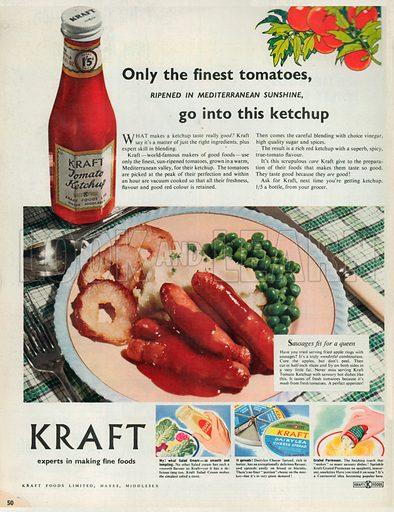 Kraft Tomato Ketchup Advertisement, 1953.