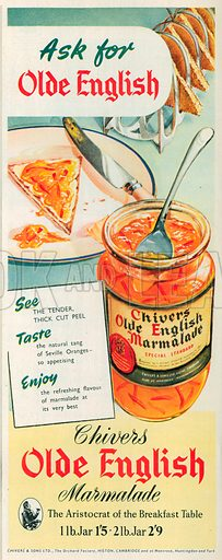 Chivers Olde English Marmalade Advertisement, 1953.