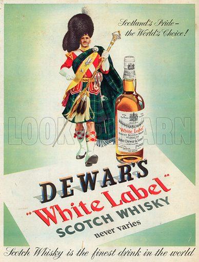 Dewar's White Label Scotch Whisky Advertisement, 1953.