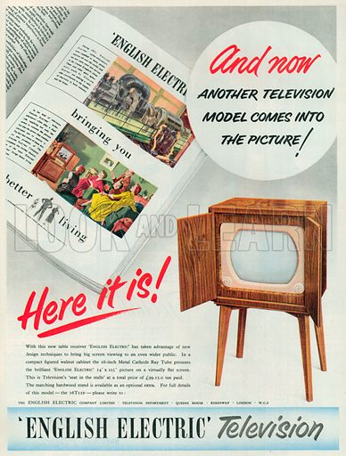 English Electric Television Advertisement, 1953.