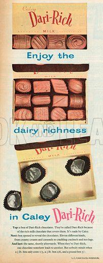 Dari-Rich Chocolates, 1957.