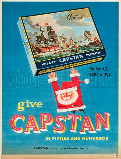 Will's Capstan Cigarettes Advertisements, 1956.