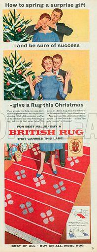 British Rug Advertisement, 1956.