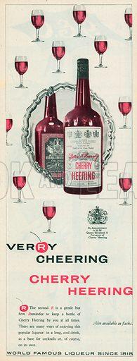 Cherry Heering Advertisements, 1956.