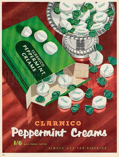 Clarnico Peppermint Creams Advertisement, 1956.