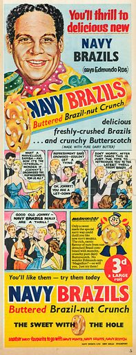 Navy Brazils Advertisement, 1955.